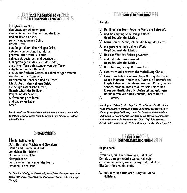 Einzigartig Basic prayers in German - The Old Catholic Church of BC WW01